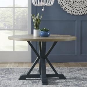 Lakeshore Single Pedestal Table- Navy
