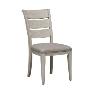Farmhouse Reimagined Ladder Back Uph Side Chair (RTA)