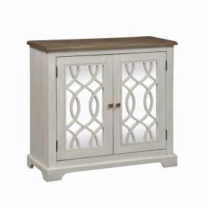 Emory 2 Door Mirrored Accent Cabinet