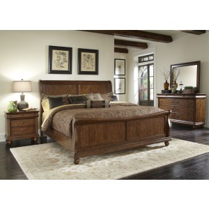 Rustic Traditions King Sleigh Bed