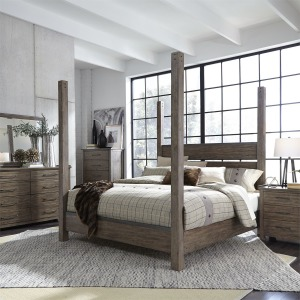 Sonoma Road Queen Poster Bed, Dresser & Mirror, Chest, Night Stand