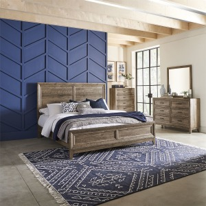 Ridgecrest King Panel Bed, Dresser & Mirror, Chest