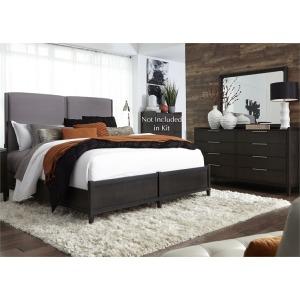 Tivoli King Panel Bed, Dresser & Mirror