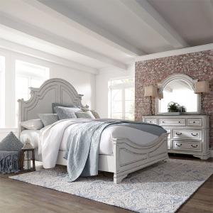 Magnolia Manor King Panel Bed, Dresser & Mirror