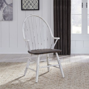 Farmhouse Windsor Back Arm Chair