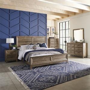 Ridgecrest California King Panel Bed, Dresser & Mirror, Chest, N/S