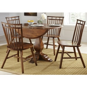 Drop Leaf Pedestal Table (38-T4242, 38-P4242)