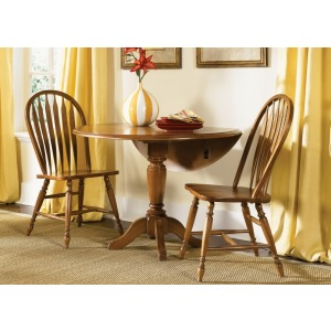 Drop Leaf Pedestal Table (76-T4242, 76-P4242)