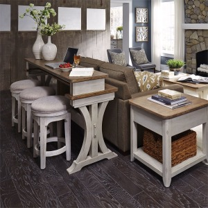 Farmhouse Reimagined 4 Piece Console Set