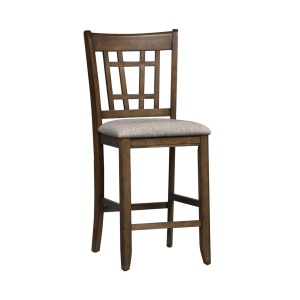 Santa Rosa II 24 Inch Lattice Back Counter Chair