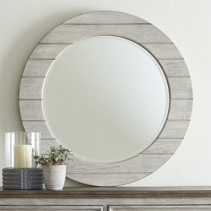 Heartland Round Mirror - White
