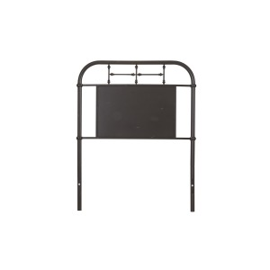 Vintage Series Twin Metal Headboard - Black