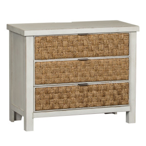 Modern Farmhouse 3 Drawer Accent Night Stand