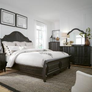 Chesapeake King Sleigh Bed, Dresser & Mirror, Chest