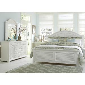 Summer House I Queen Panel Bed, Dresser & Mirror