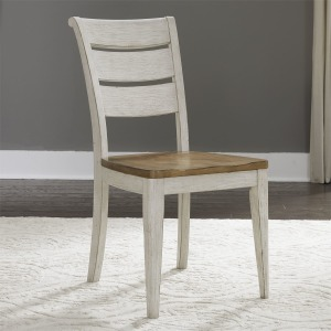Farmhouse Reimagined Ladder Back Side Chair (RTA)