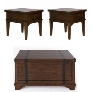 Aspen Skies 3 PC Occasional Table Set