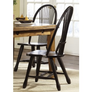 Treasures Sheaf Back Side Chair - Black