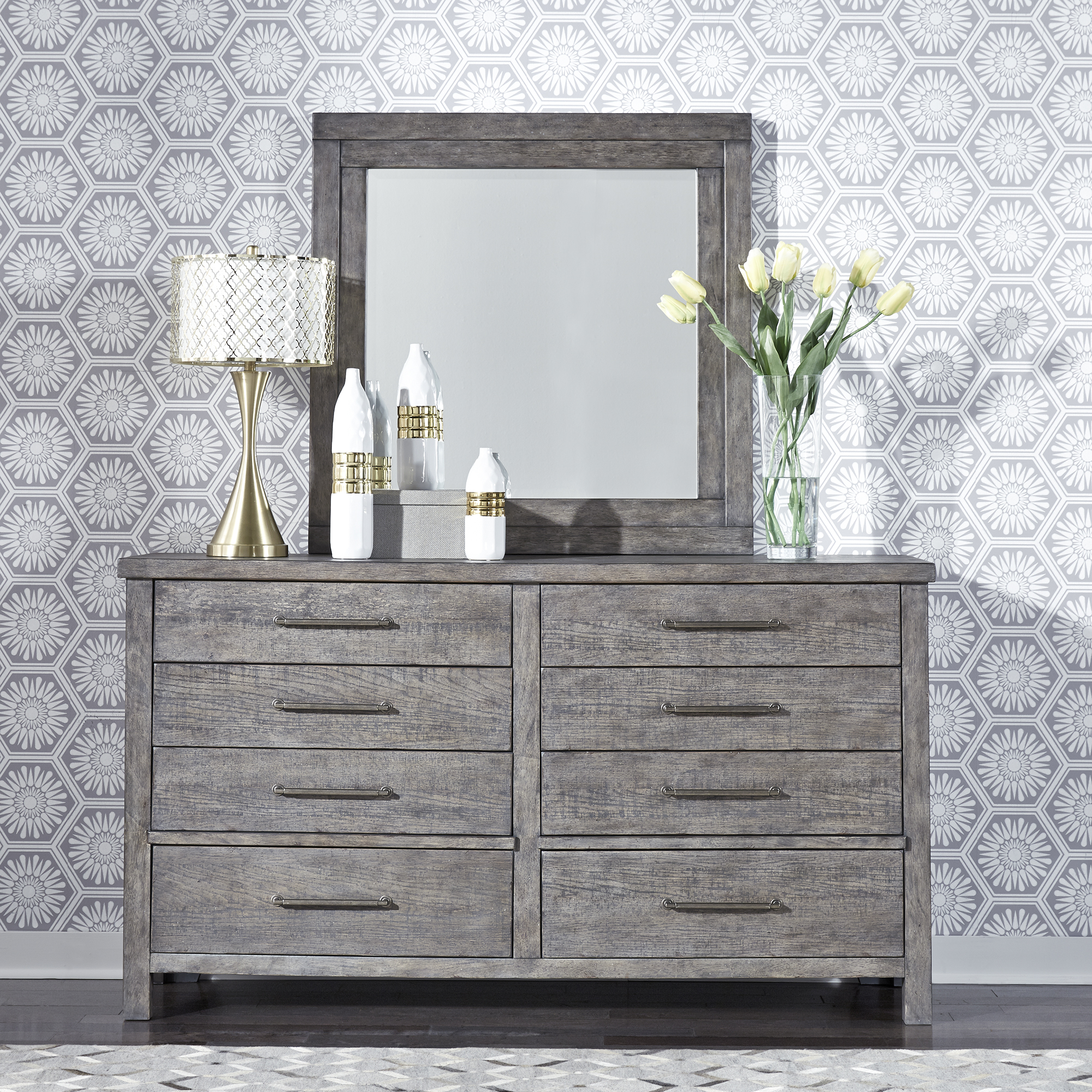 Modern Farmhouse Queen Storage Bed Dresser Mirror Chest By Liberty Furniture 406 Br Qsbdmc Bruce Furniture Floor Covering