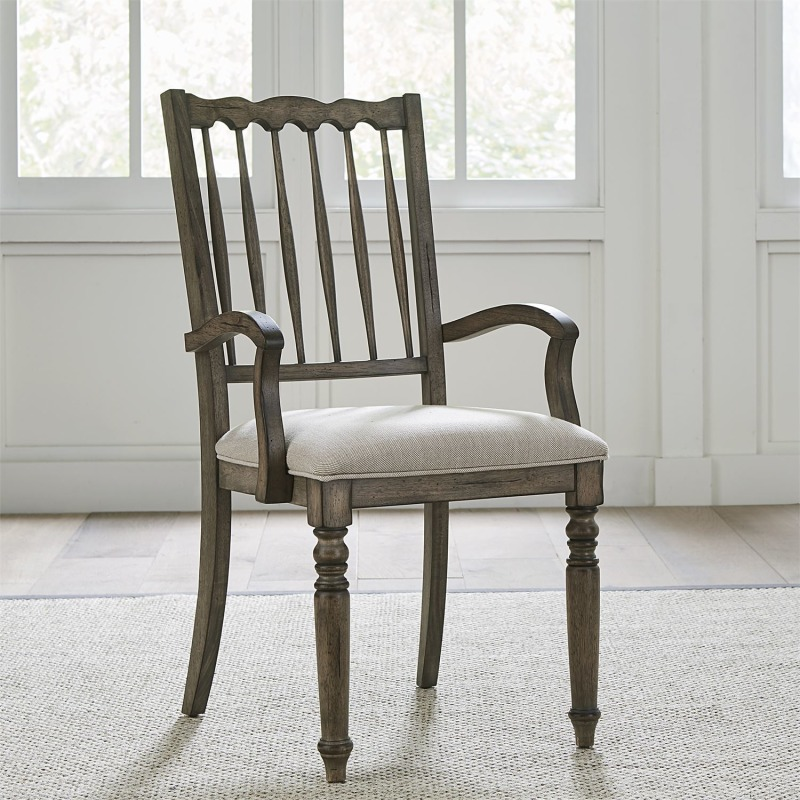 Spindle Back Uph Arm Chair (RTA)