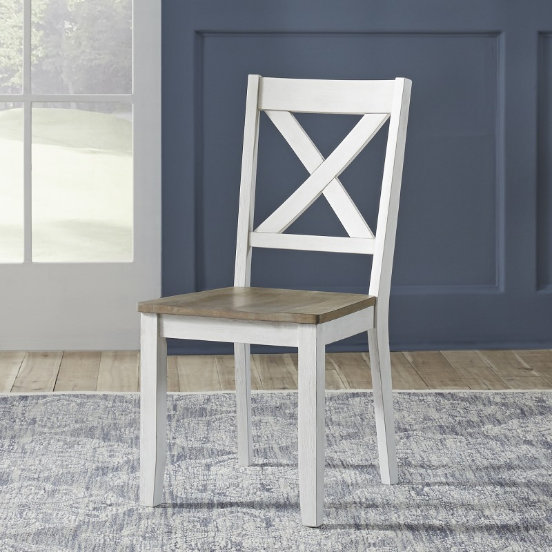 X Back Side Chair- White (RTA)