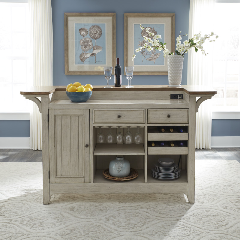 Farmhouse Reimagined Bar Base w/ Marble Top