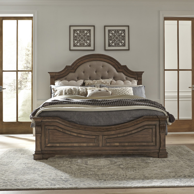 Haven Hall King Opt Panel Bed, Dresser & Mirror, Chest