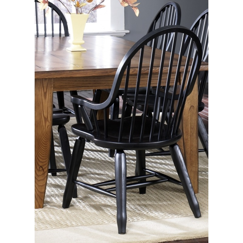 Bow Back Arm Chair - Black (17-C4051)