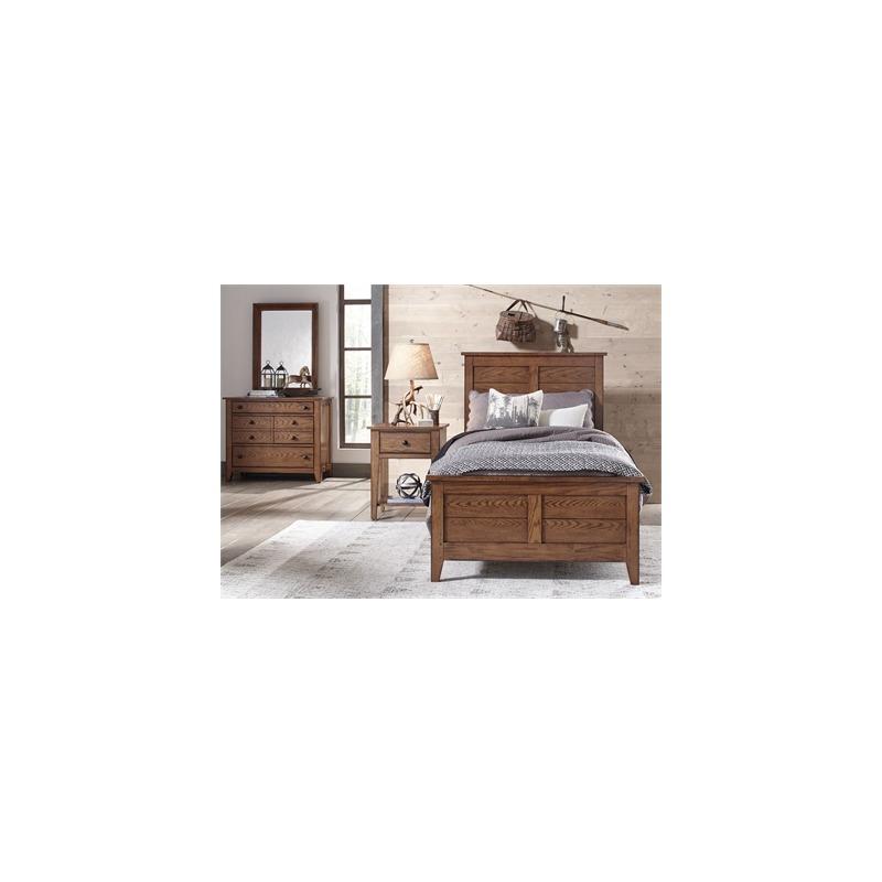 Grandpa's Cabin Full Sleigh Bed, Dresser & Mirror