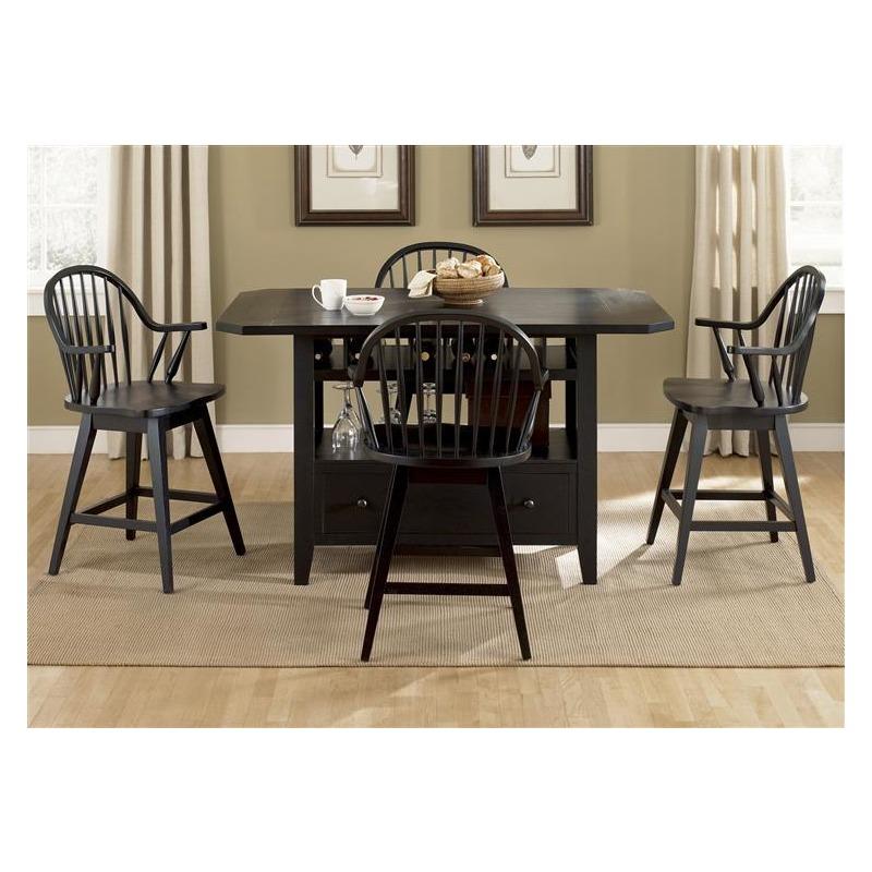Center Island Table Base Black By Liberty Furniture
