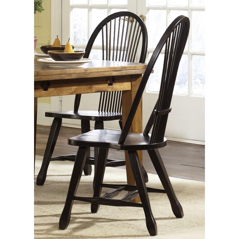 Sheaf Back Side Chair - Black (17-C4032)