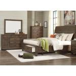 3 PC King Sleigh Bedroom Set - Brown Pine