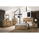 5 PC King Bedroom Set - Antique Natural