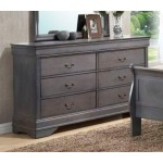 6 Drawer Dresser - Grey