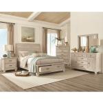 3 PC King Bedroom Set - White Wash
