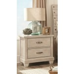 2 Drawer Nightstand - White Wash