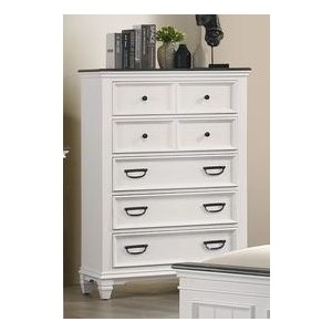 5 Drawer Chest - White / Grey