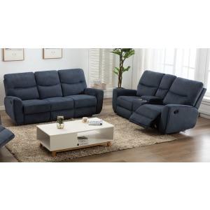 Motion Sofa & Loveseat Set - Indigo