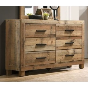 6 Drawer Dresser - Antique Natural