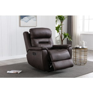 Power Recliner w/ Power Headrest - Mustang Chocolate