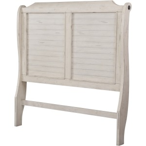 King Sleigh Headboard - Antique White