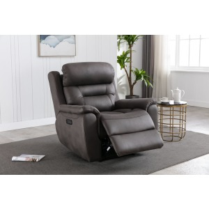 Power Recliner w/ Power Headrest - Mustang Charcoal