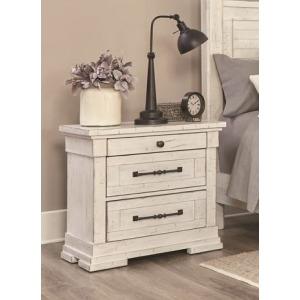 3 Drawer Nightstand - Antique White