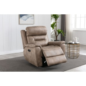Power Recliner w/ Power Headrest - Mustang Palamino