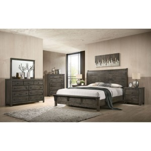 4 PC King Bedroom Set - Grey