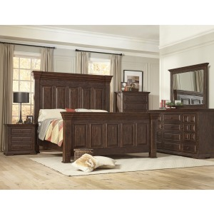4 PC King Bedroom Set - Tobacco