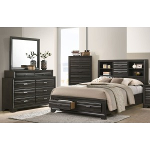 4 PC Queen Bedroom Set - Antique Grey