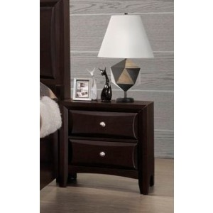 2 Drawer Nightstand - Walnut