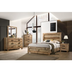 5 PC King Bedroom Set - Antique Natural