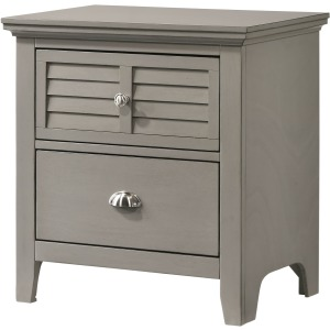 2 Drawer Nightstand - Grey